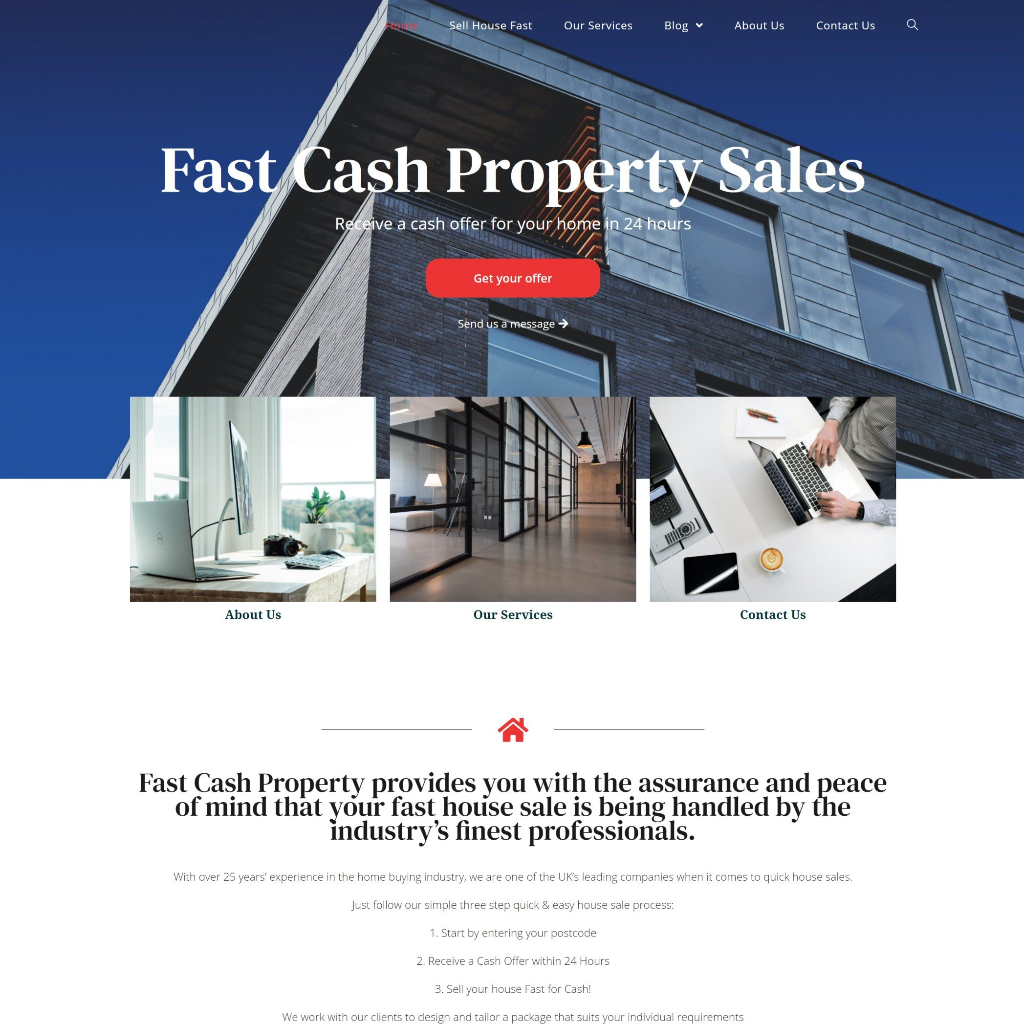 Fast Cash Property - Website design near Longford